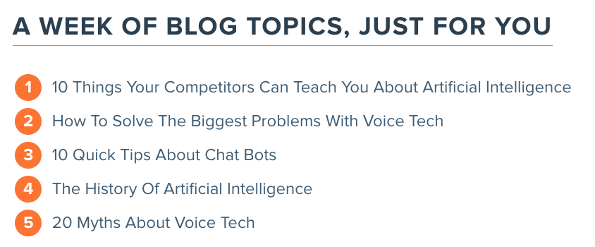 Hubspot blog topic generator blog schedule