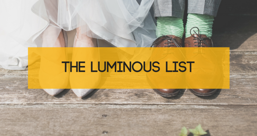 The Luminous List blog image, couple wedding feet