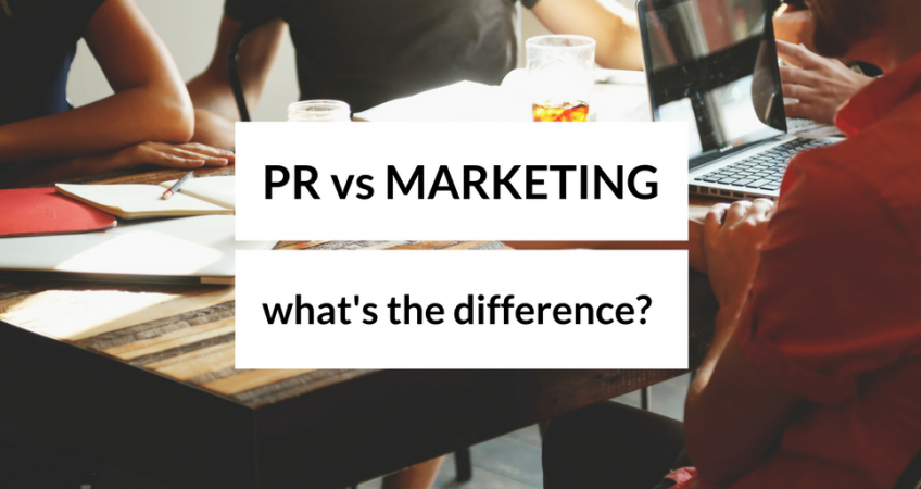 what's the difference between pr and marketing?