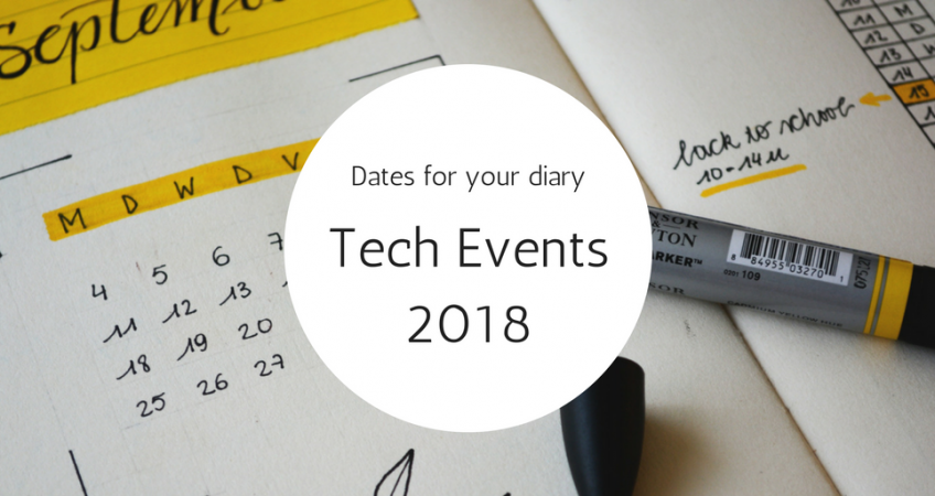 Top tech events 2018